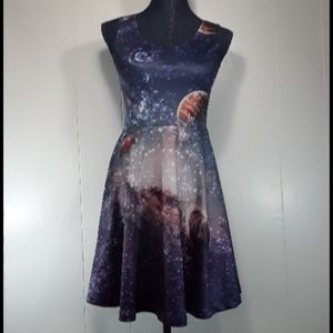 Cow cow stars planet galaxy dress